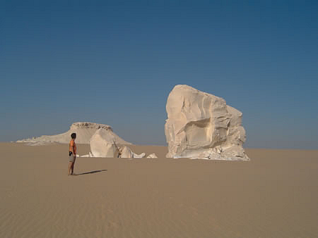 Rock formations in Egyptian desert