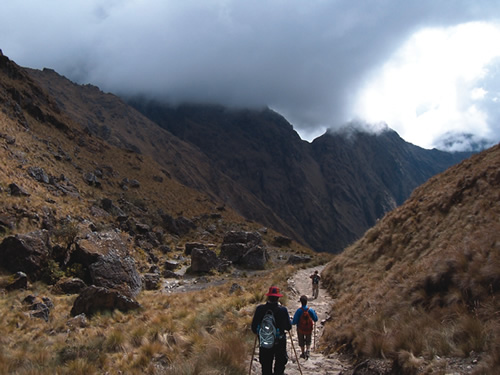 Inca Trail near Machu Picchu in Peru