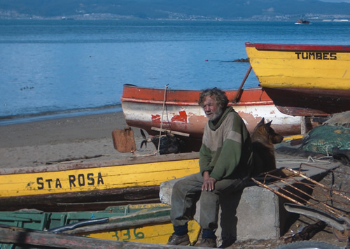 A Fisherman takes a rest in Tumbes, Chile