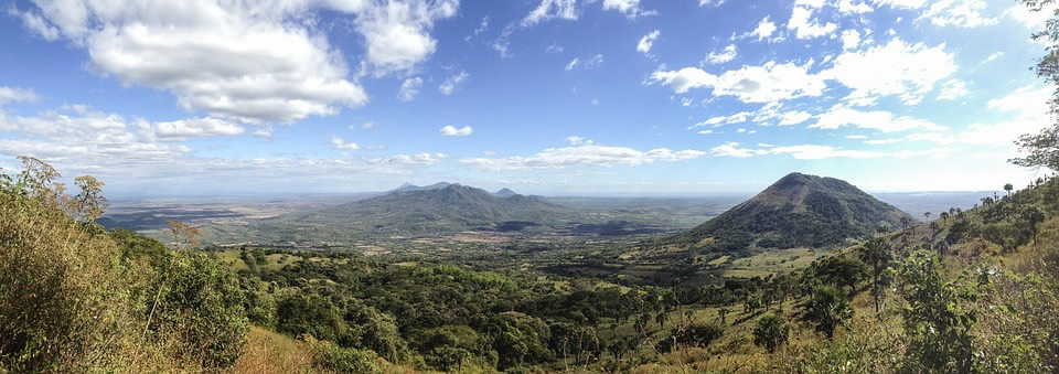 Panoroma with some of the Volcanoes in Nicaragua