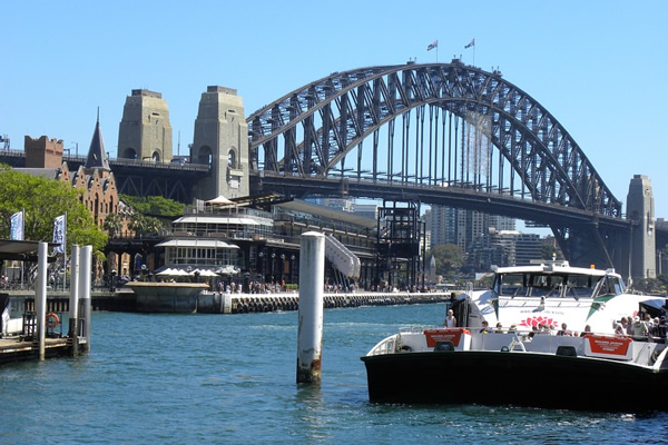 View of Sydney, Australia from the waterfront