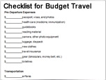 Budget travel checklist