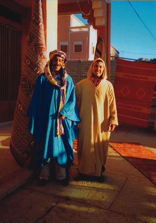 Berber carpets sellers in Morocco