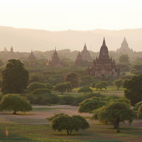 The wonder of the pagodas of Bagan, Myanmar