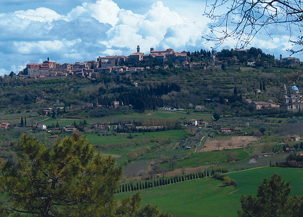 Village of Panicale, Italy in Tuscany