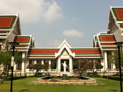 Buildings on the campus of Chulalongkorn University in Bangkok