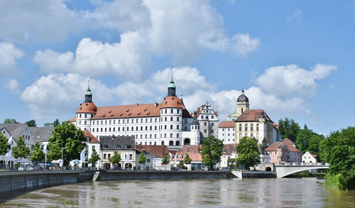 Neuberg on the Danube in Bavaria, Germany