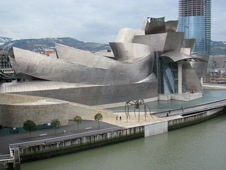 The Guggenheim Museum in Bilbao, which has become a landmark of Spanish tourism