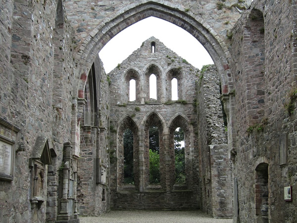 Grey Abbey in Northern Ireland