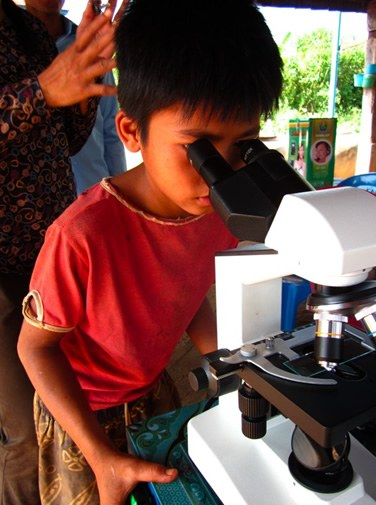 Studying child in Cambodia