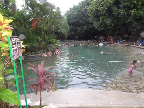 Baldi hot springs in La Fortuna