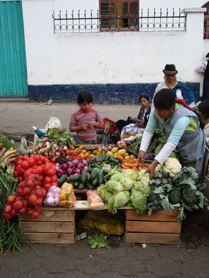 Street vendor in Quito