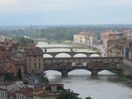 View of the Arno running through Florence