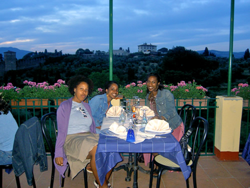 With friends while studying abroad in Fiesole, Italy