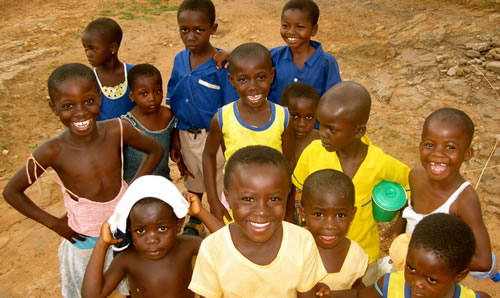 School Children in the village of Benim, Ghana