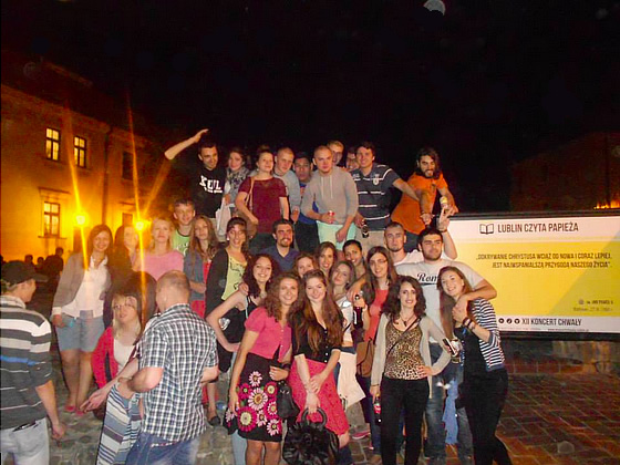 Erasmus friends in the old town of Lublin, Poland