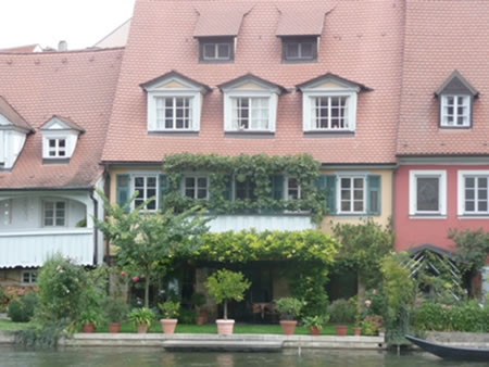 Houses on the River in Bamberg, Germany