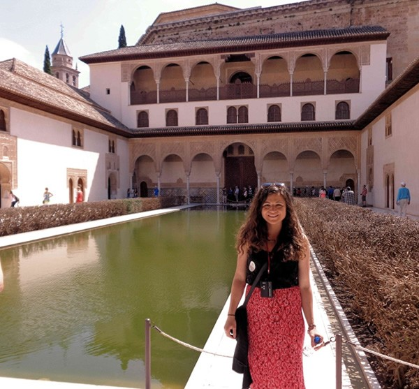 student travel writing contest cash scholarships photo by heather olafsson at the alhambra in granada spain from the who what where why when of living abroad in spain