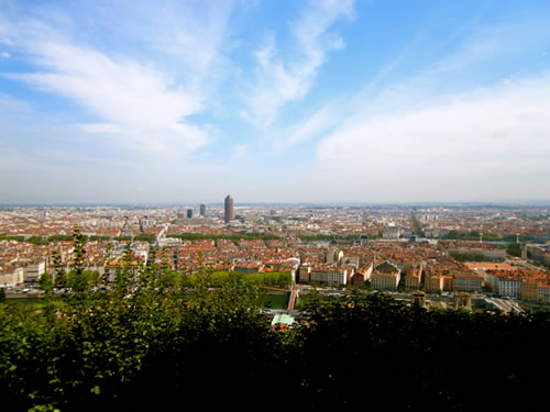 Overlooking Lyon, France