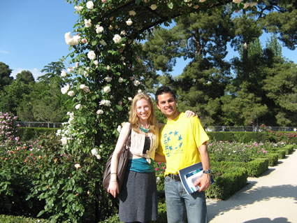 At Retiro Park in Madrid with classmate