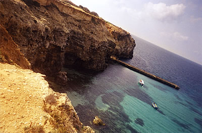 Coastal cliffs of Malta