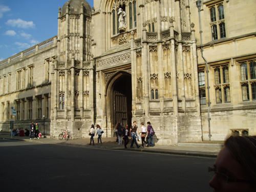 The entrance to Christ Church in Oxford