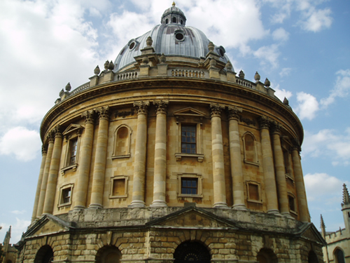 The Radcliffe Camera, an iconic domed library