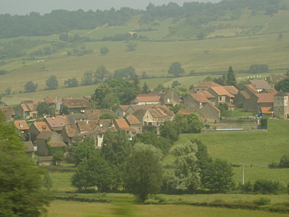 Village seen from train