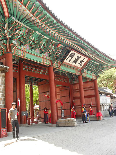 Royal Korean palace in Seoul.