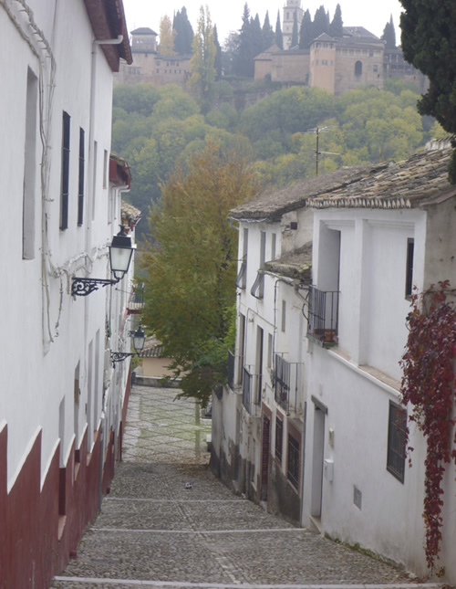 View of Alhambra from street