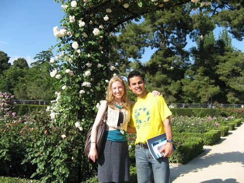 Retiro Park in Madrid with a friend