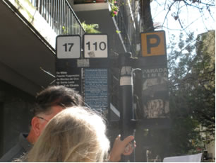 The bus stop in Buenos Aires