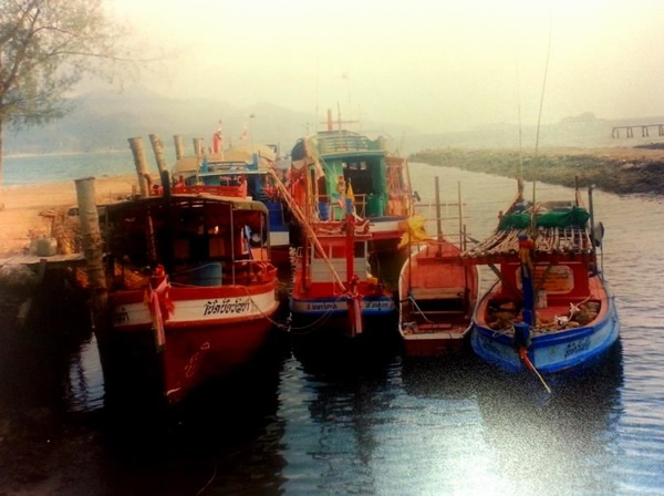 Thailand Ko Samed fishing boats