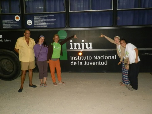 The INJU team and I during the summer project
