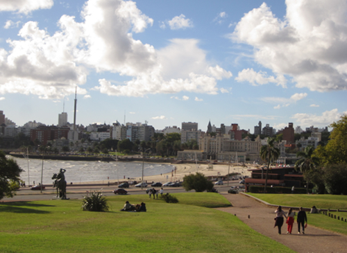 View of the Montevideo's promenade
