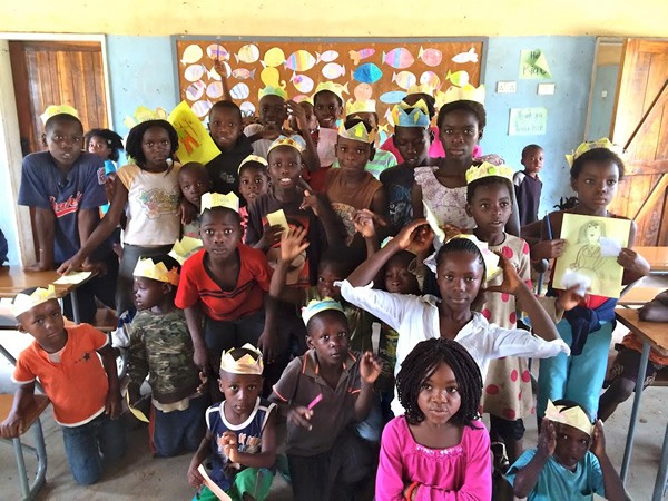 Teaching children of all ages in Zambia