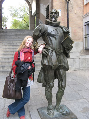 With Miguel de Cervantes