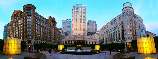 London Canary Wharf for financial services
