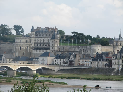 Ambroise Castle in the Loire, France